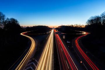 Autobahnkreuz Aachen am morgen