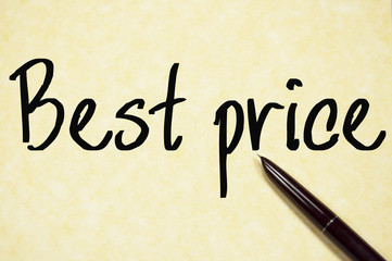 best price text write on paper