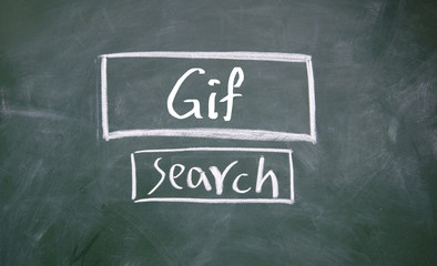 search gif interface on blackboard