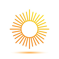 Vector Illustration of a Sun Icon