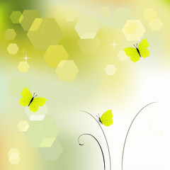 Desktop wallpaper - The Background with butterflies in pastel co