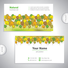 business card - woods and gardens - company presentations