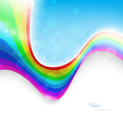 Abstract rainbow background. Vector Illustration