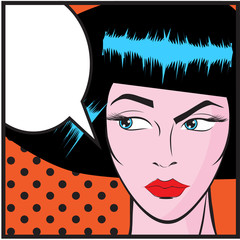 Woman Pop art  - Retro Clip Art illustration