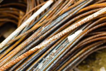 Metal rod on contruction site