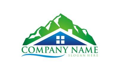 real estate logo with sun vector