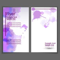 Flyer template. Business brochure for design