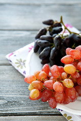 Juicy grapes on a plate