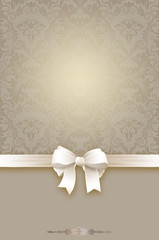 Wall Mural - Decorative background with bow and vintage patterns.