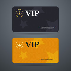 Vip card template with logo and abstract background.