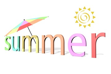 zomer parasol in het zonnetje