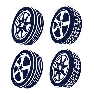 car wheel  abstract