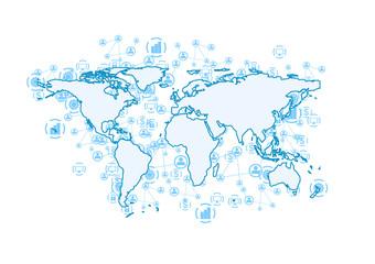 World communication abstract tech background