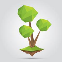 Conceptual polygonal tree. vector Illustration