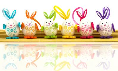 Easter eggs on mat