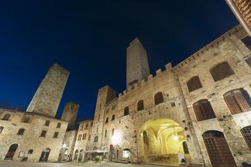 Fototapete - San Gimignano Medieval Village,Tuscany, Italy, Europe