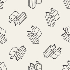 doodle trunk seamless pattern background