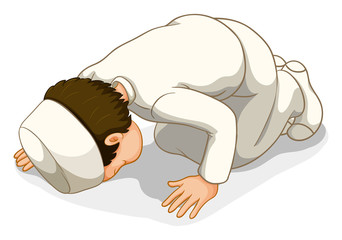 Muslim praying
