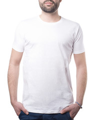 classic white tshirt male