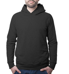 cosy black hoody template