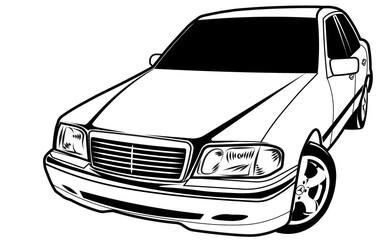 old car sedan