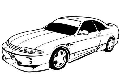 Papiers peints Cartoon voitures old car sport coupe