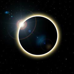 Fototapete - Sun eclipse