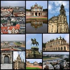 Dresden, Germany - travel collage