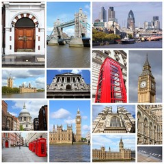 London - travel collage