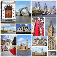 London - travel collage