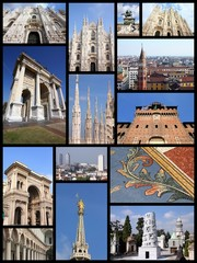 Milan - travel collage