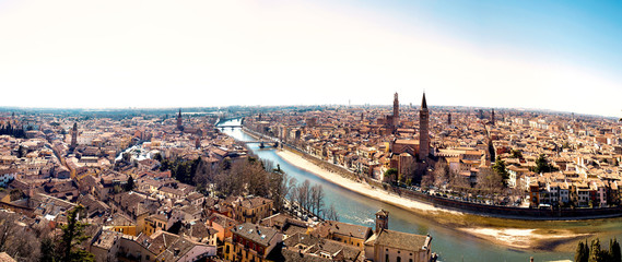 spectacular view of the City of Verona