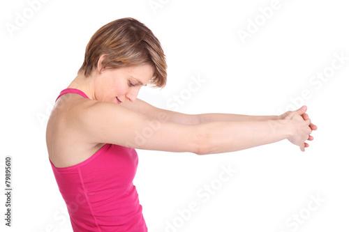 Dehnung oberer Rücken Schulter\