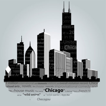 Vector. Chicago silhouette.