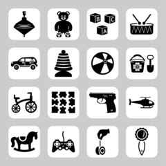 Toys icon collection - vector silhouette illustration