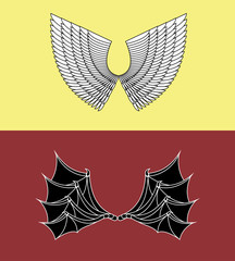Demon and Angel Wings