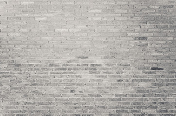 old white brick wall texture as background