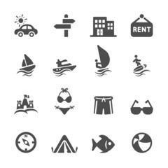 travel and vacation icon set 2, vector eps10