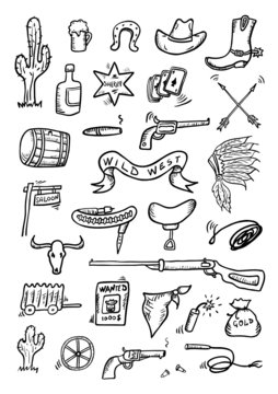 Wild West Hand Drawn Set