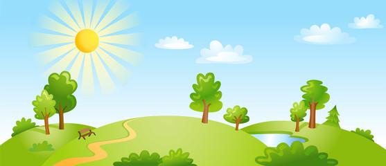 Vector illustration of beautiful landscape.