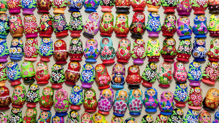 background of Russian nesting dolls