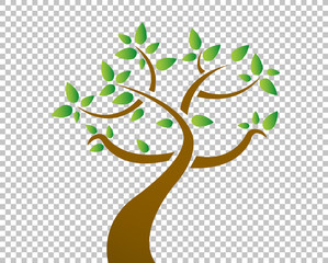 tree over a blank design layer illustration