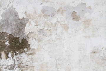 Poster Old dirty textured wall Old Texture Grunge background wall with crack on stucco