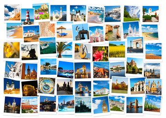 Travel in Europe collage