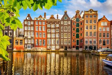 In de dag Amsterdam Old buildings in Amsterdam