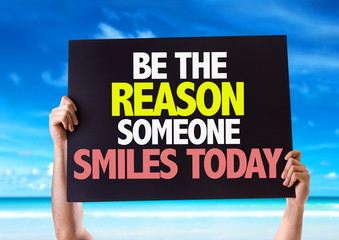Be The Reason Someone Smiles Today card with beach