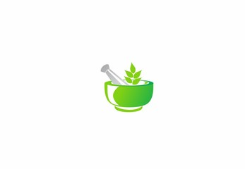 logo pharmacy, medicine, leaf symbol, herbal, eco nature