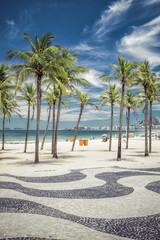 Palms on Copacabana Beach in Rio de Janeiro, Brazil