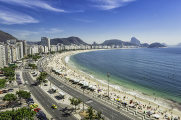 Copacabana Beach from high angle in Rio de Janeiro
