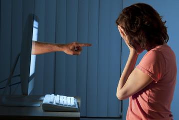 Cyber internet computer bullying